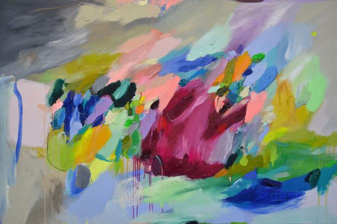 Arte i dipinti astratti di laelie berzon osso magazine for Immagini dipinti astratti